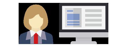 専用の管理画面を活用し、請求書の実画像と処理結果を確認